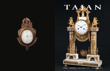 Arts décoratifs des 18e et 19e siècle - Tajan