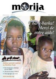 Journal Janvier 2007 - Morija