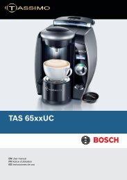 Télécharger le manuel de la machine Bosch T65 (pdf, 6 MB) - Tassimo