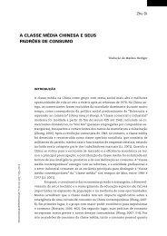 a classe média chinesa e seus padrões de consumo - Revista do ...