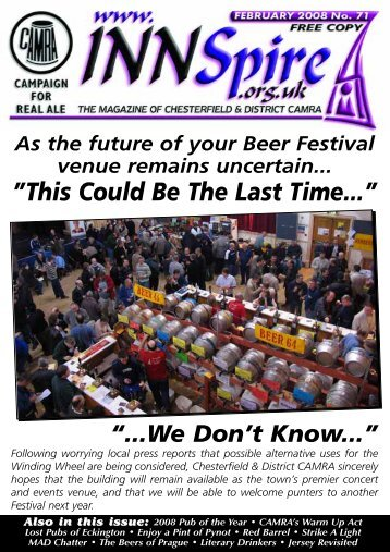 2008 Pub of the Year • CAMRA's Warm Up - Chesterfield and District ...
