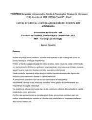 Capital intelectual - tecsi - USP