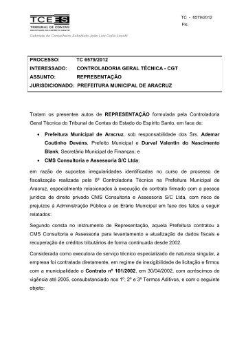Voto - Tribunal de Contas do Estado do Espírito Santo