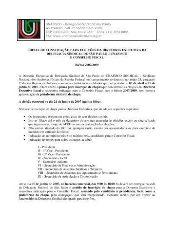 UNAFISCO - Delegacia Sindical São Paulo Av Paulista, 568, 9º ...