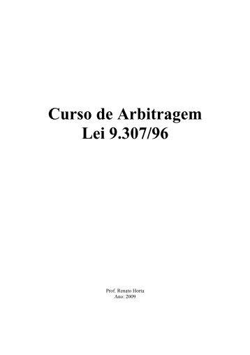 apostila arbitragem - Prof. Renato Horta