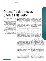 O desafio das novas Cadeias de Valor - Link - Gerimos ...