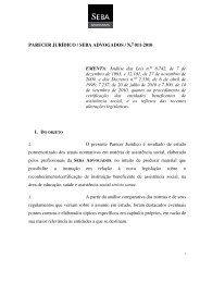 Parecer Jurídico / Seba Advogados / Nº 11/2010