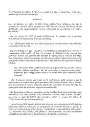 Protocollo di Riorganizzazione del Servizio Idrico Integrato ... - Sele