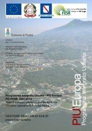 Programma Integrato Urbano - Comune di Portici