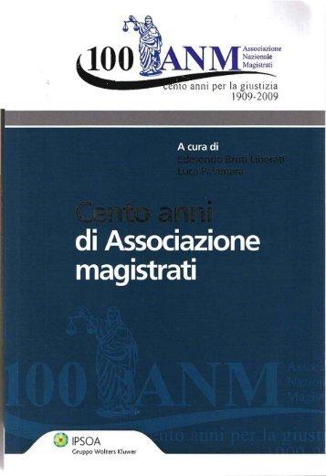 nto anni per la giustizia 1909-2009
