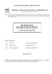 sanitaria n. 8 deliberazione del direttore generale - Ulss 8 Asolo