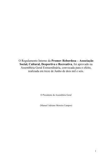 Regulamento Interno - Promov