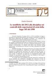 Le modifiche del 2012 alla disciplina sui controlli delle esportazioni ...