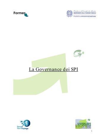 La Governance dei SPI