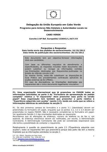 1 Delegação da União Europeia em Cabo Verde - Europa