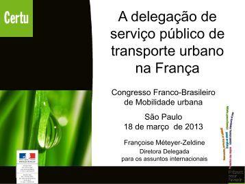 A delegação de serviço público de transporte urbano ... - UBIFRANCE