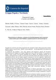 Clicca qui per visualizzare la Proposta di Legge ... - FederLab Italia