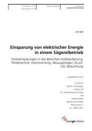 Einsparung von elektrischer Energie in einem Sägereibetrieb