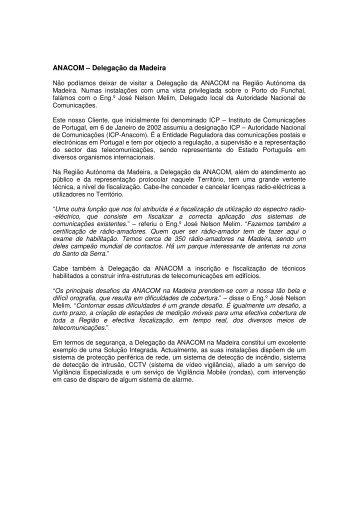ANACOM – Delegação da Madeira - Securitas