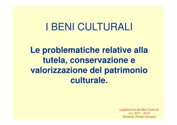 Beni Culturali - Facoltà di lettere e filosofia