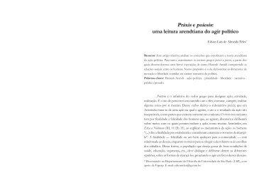 Práxis e poiesis: uma leitura arendtiana do agir político - fflch - USP