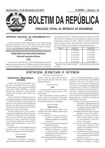 BR 46.indd - Portal do Governo de Moçambique