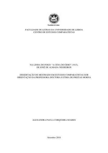 """""""a cena do ódio"""" (1915) - Repositório da Universidade de Lisboa"""