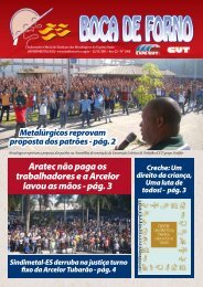 Aratec não paga os trabalhadores e a Arcelor lavou as ... - CNM/CUT