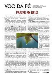 Vôo da Fé, boletim informativo de 2012-03-18 - igreja de Cristo