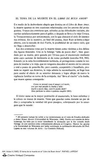 """Actas II. AIH. El tema de la muerte en el """"Libro de Buen Amor ..."""