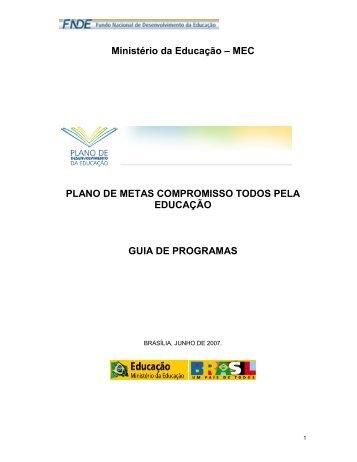 Ministério da Educação – MEC PLANO DE METAS ... - Unesco