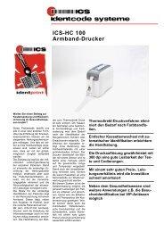 ICS-HC 100 Armband-Drucker - ICS Identcode Systeme AG