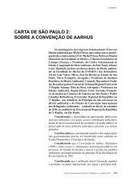SoBrE A CoNvENÇÃo DE AArHuS - revista internacional direito e ...