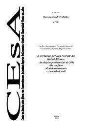 A evolução política recente na Guiné-Bissau: - Instituto Superior de ...