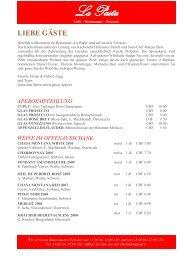 La Pasta Karte Dez. 2011 (pdf) - Hotel Chasa Montana