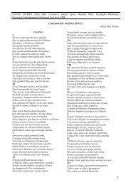 FONTE: DURÃO, Santa Rita. Caramuru: poema épico. Brasília: MEC ...