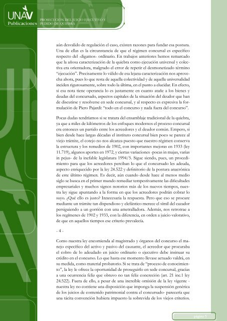 PROSECUCIÓN DEL JUICIO EJECUTIVO Y PEDIDO DE ... - UNAV