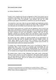 Em nome do bem comum por Adriano Medeiros ... - ComBase - UFRN