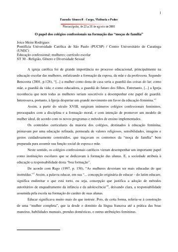 Joice Meire Rodrigues Pontifícia Universidade - Fazendo Gênero 10