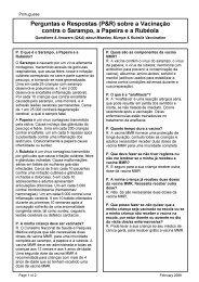 Perguntas e Respostas (P&R) sobre a Vacinação ... - NSW Health