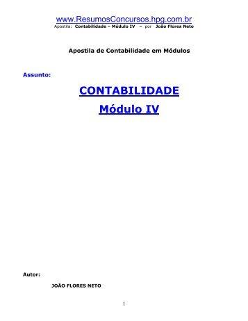 Contabilidade Módulo 4 - wcanal