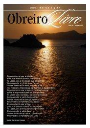www.libertas.org.br Deus costuma usar a solidão Para nos ensinar ...
