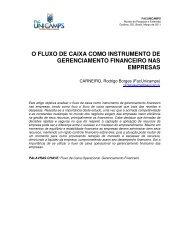 o fluxo de caixa como instrumento de gerenciamento financeiro nas ...