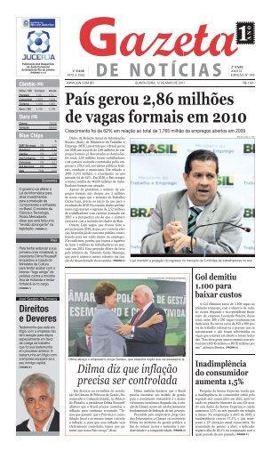 País gerou 2,86 milhões de vagas formais em 2010 - Jgn.com.br