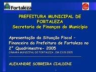 Apresentação na Câmara Municipal 23/09/2005 - Sefin - ce