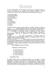 1 01) Pref. Recife-ESAF - Ponha, diante de cada, item na seqüência ...