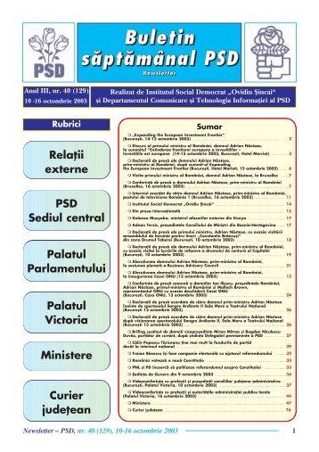 Ministere - Fundatia Institutul Social Democrat Ovidiu Sincai