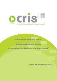 Responsabilidade Social: a normalização Nacional e ... - APQ