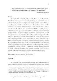 inquisição e igreja católica no pernambuco colonial - UFRB
