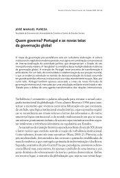 Quem governa? Portugal e as novas teias da governação global